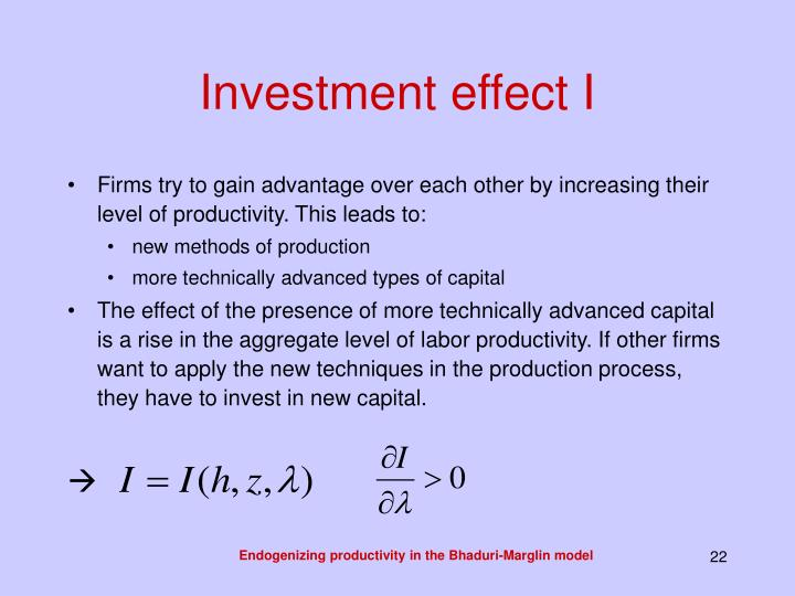 Investment effect I