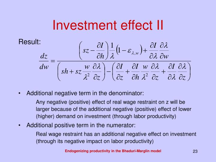 Investment effect II