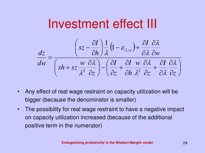 Investment effect III