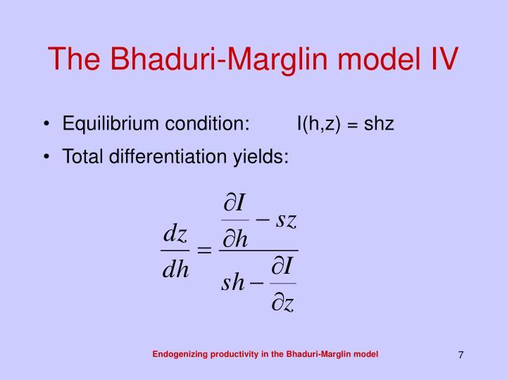 The Bhaduri-Marglin model IV