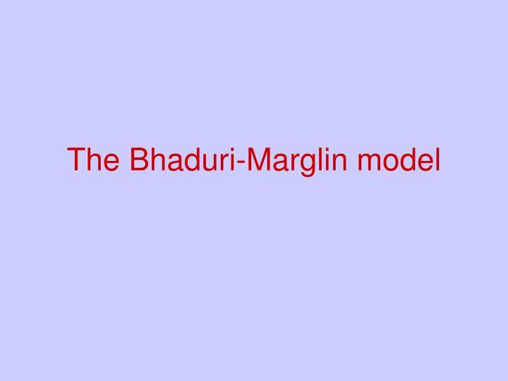 The Bhaduri-Marglin model