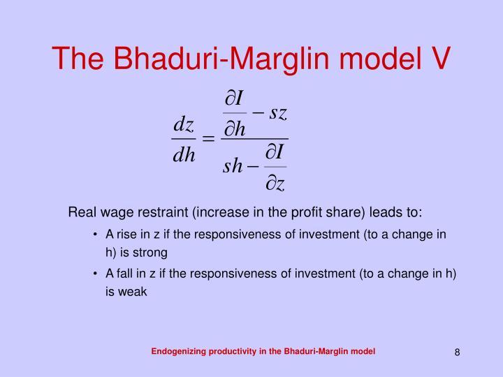The Bhaduri-Marglin model V