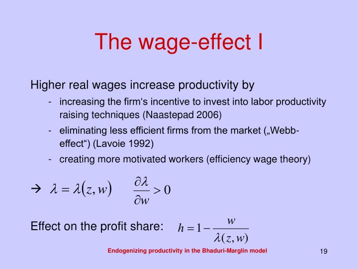 The wage-effect I