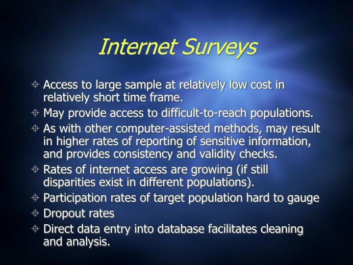 Internet Surveys