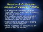telephone audio computer assisted self interview t acasi