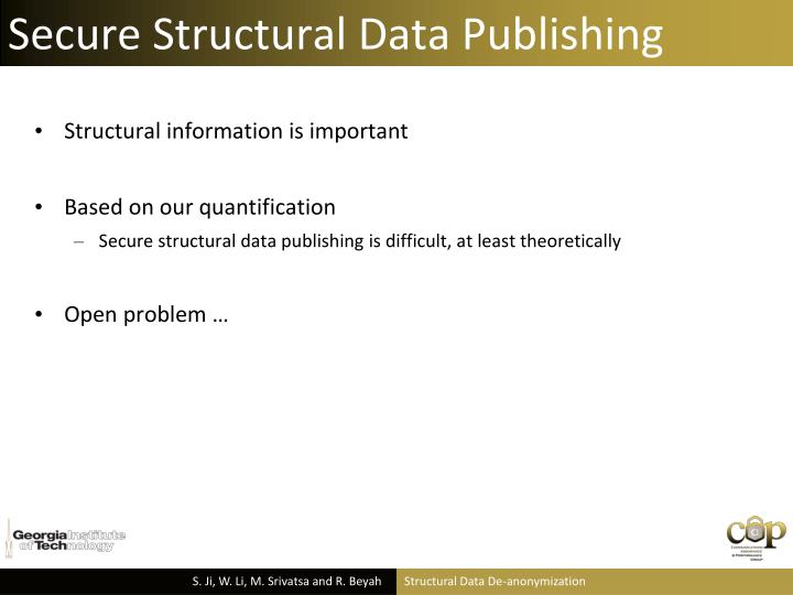 Secure Structural Data Publishing