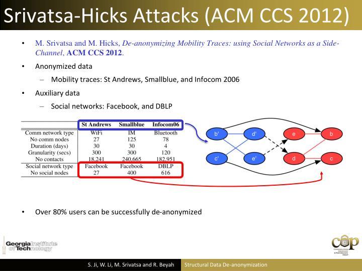 Srivatsa-Hicks Attacks (ACM CCS 2012)