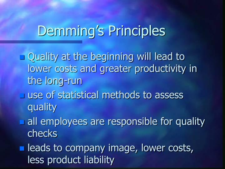 Demming's Principles