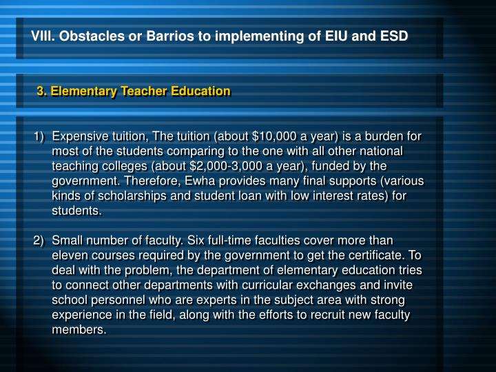 3. Elementary Teacher Education