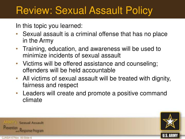 Review: Sexual Assault Policy