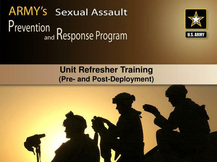 Unit refresher training pre and post deployment
