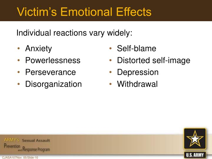 Victim's Emotional Effects