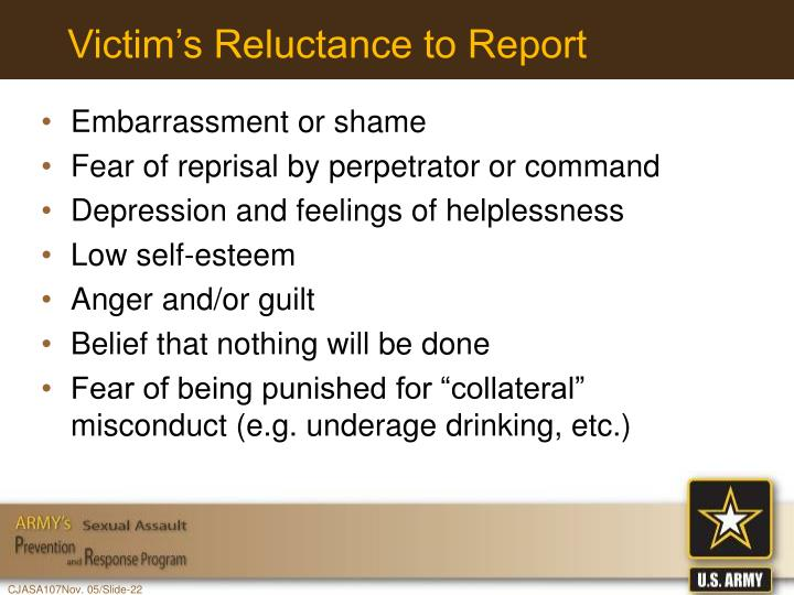 Victim's Reluctance to Report
