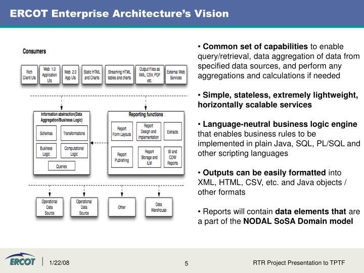 ERCOT Enterprise Architecture's Vision