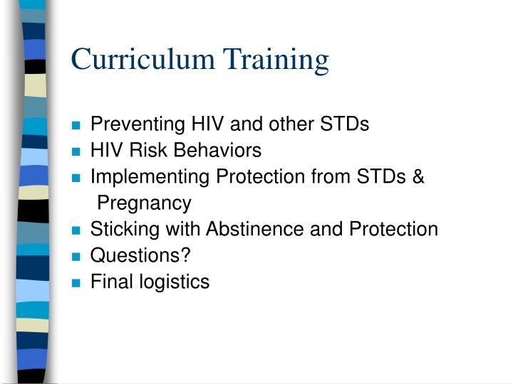 Curriculum Training