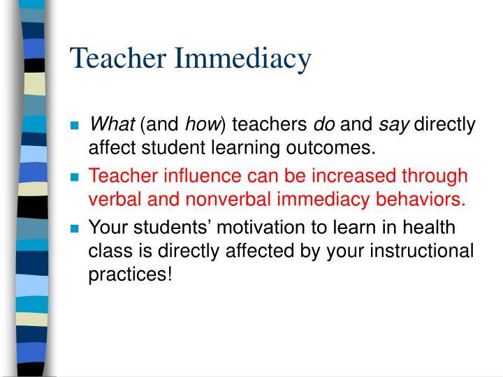 Teacher Immediacy