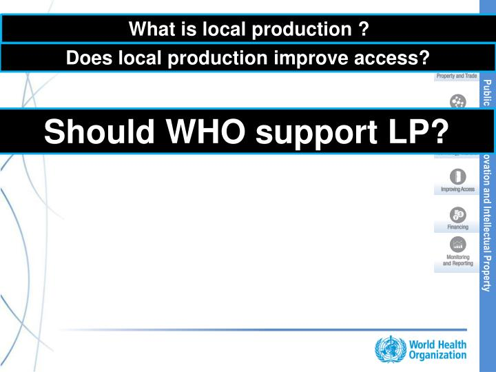 What is local production ?