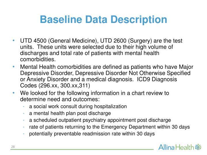 Baseline Data Description