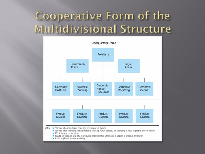 Cooperative Form of the Multidivisional Structure