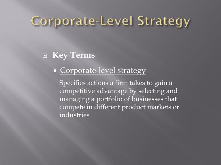 Corporate-Level