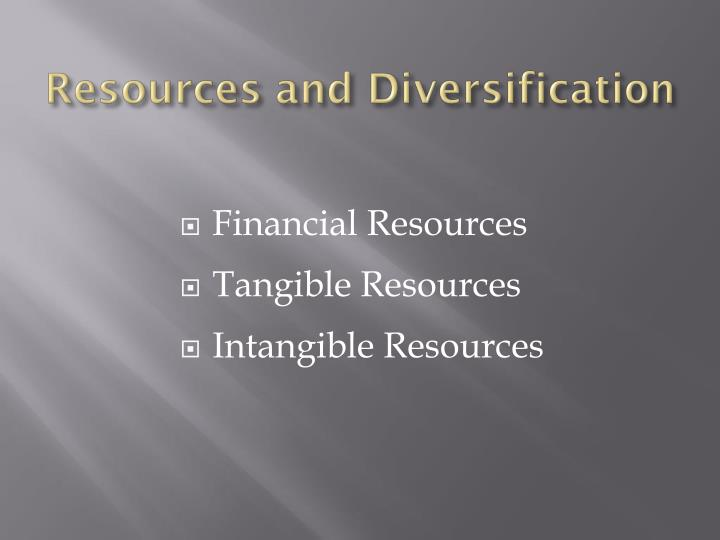 Resources and Diversification