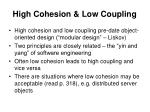 high cohesion low coupling