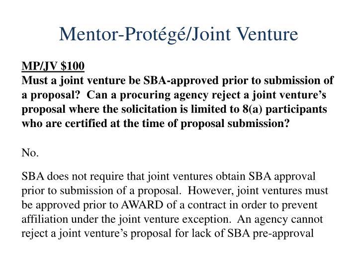 Mentor-Protégé/Joint Venture