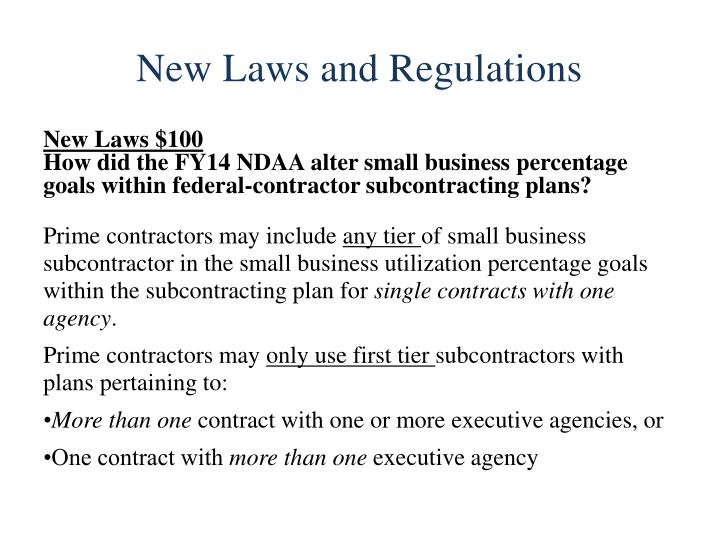 New Laws and Regulations