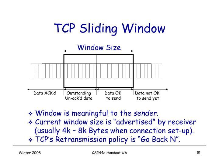 TCP Sliding Window