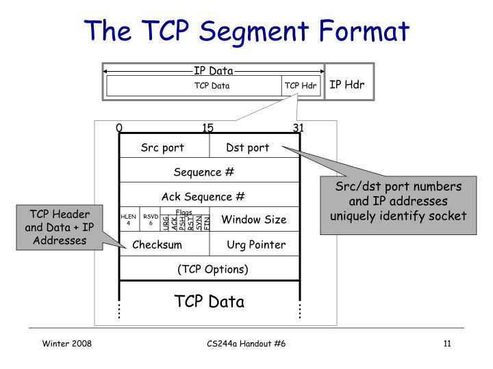 The TCP Segment Format