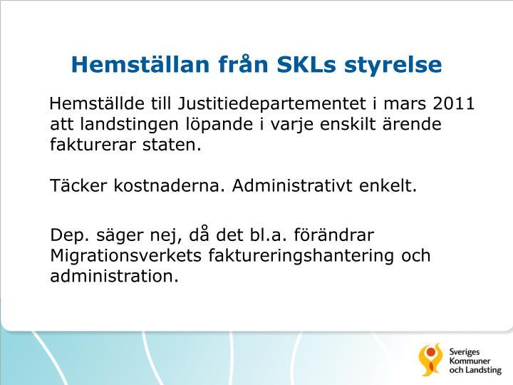 Hemställan från SKLs styrelse