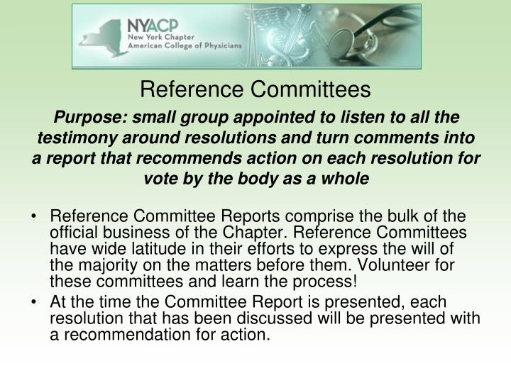 Reference Committees