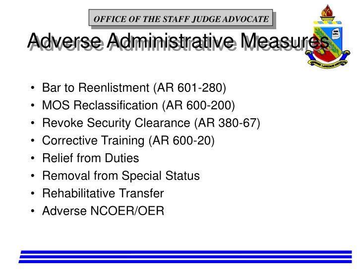 Adverse Administrative Measures