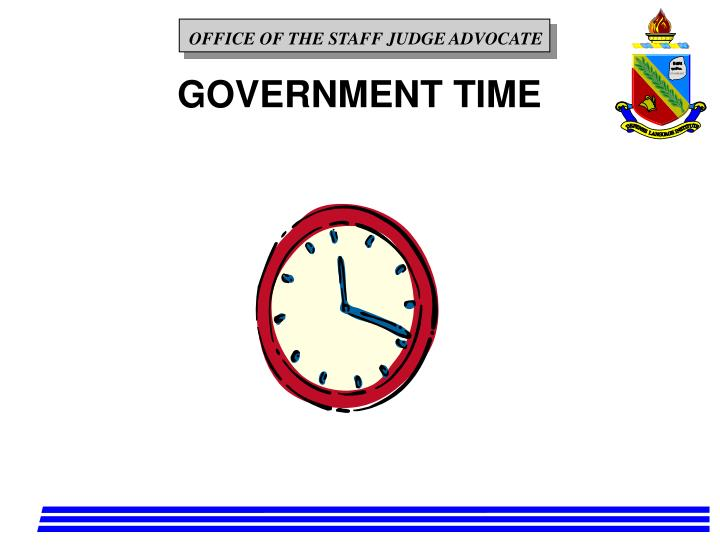 GOVERNMENT TIME