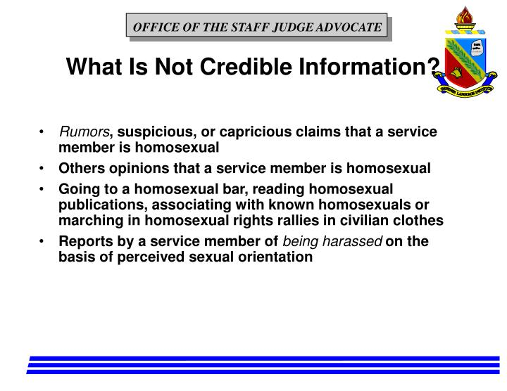 What Is Not Credible Information?