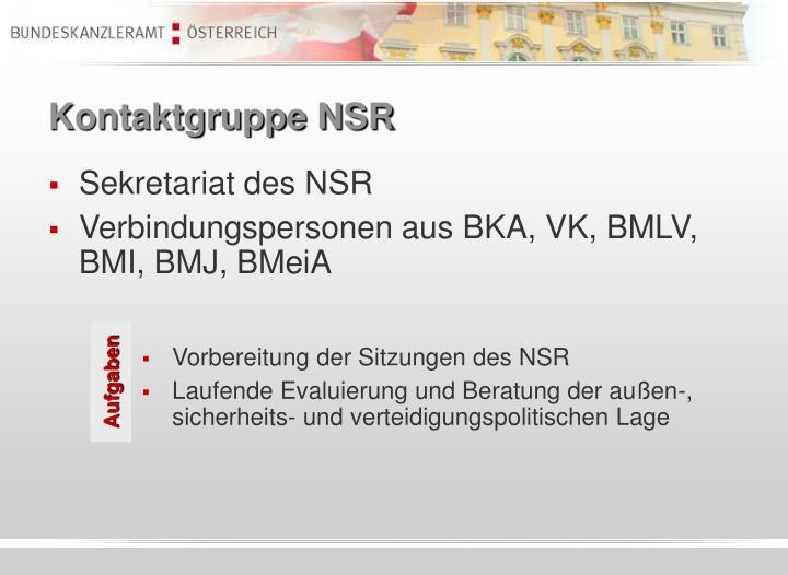 Kontaktgruppe NSR