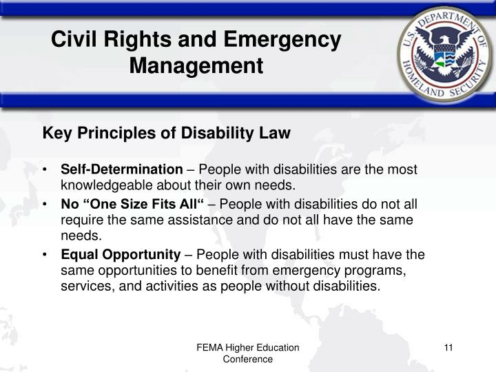 Civil Rights and Emergency Management