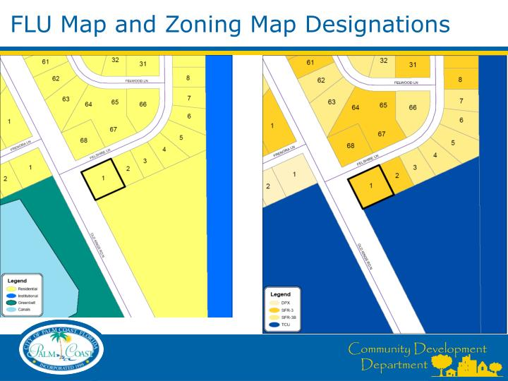 FLU Map and Zoning Map Designations