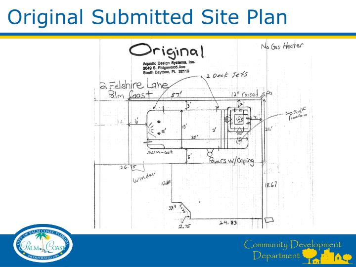 Original Submitted Site Plan