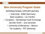 new university program goals1