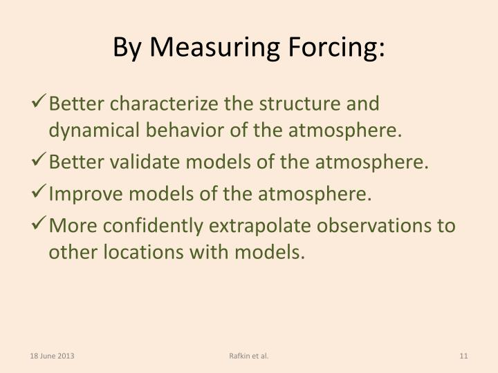 By Measuring Forcing: