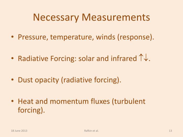 Necessary Measurements
