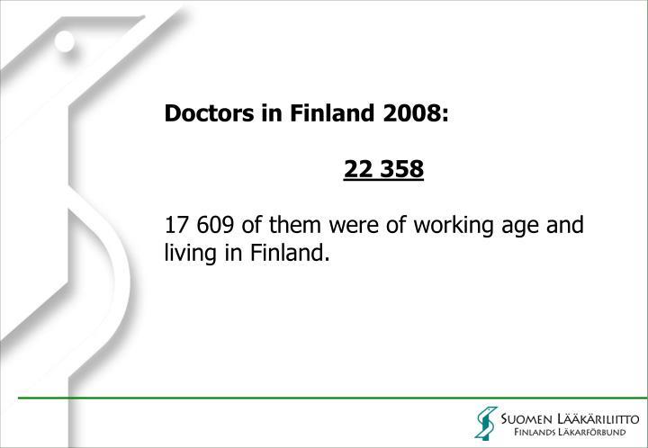 Doctors in Finland 2008: