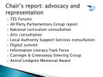 chair s report advocacy and representation