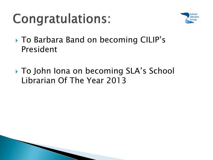 Congratulations: