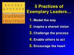 5 practices of exemplary leaders