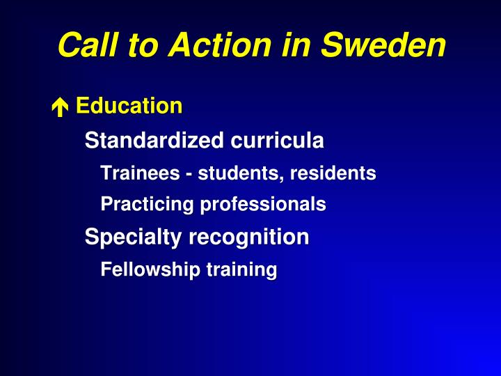 Call to Action in Sweden