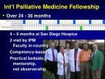 int l p alliative medicine fellowship