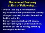 mohammad bushnaq at end of fellowship