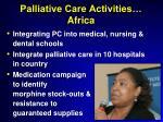 palliative care activities africa